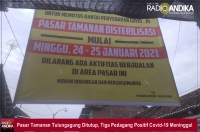 Pasar Tamanan Tulungagung Ditutup, Tiga Pedagang Positif Covid-19 Meninggal