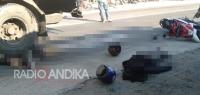 Kecelakaan Truk vs Motor di Badas Kediri, Satu Korban Meninggal
