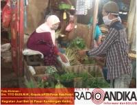 UPTD Pasar Kabupaten Kediri, Wajibkan Pedagang Gunakan Masker