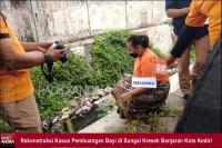 Pelaku Pembuangan Bayi Kali Kresek Kota Kediri Terancam 10 Tahun Penjara