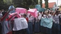 Tolak Pungli, Siswa SMKN I Jatirejo Demo Kepala Sekolah