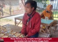 Diduga Ditinggal Rombongan, Pria asal Malang Mengaku Jalan Kaki Madiun - Kediri