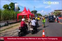 Polres Tulungagung Prioritaskan Pemeriksaan Kendaraan Plat Nomor Luar Rayon